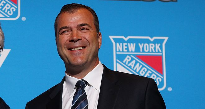 Alain Vigneault at his presentation as New York Rangers coach
