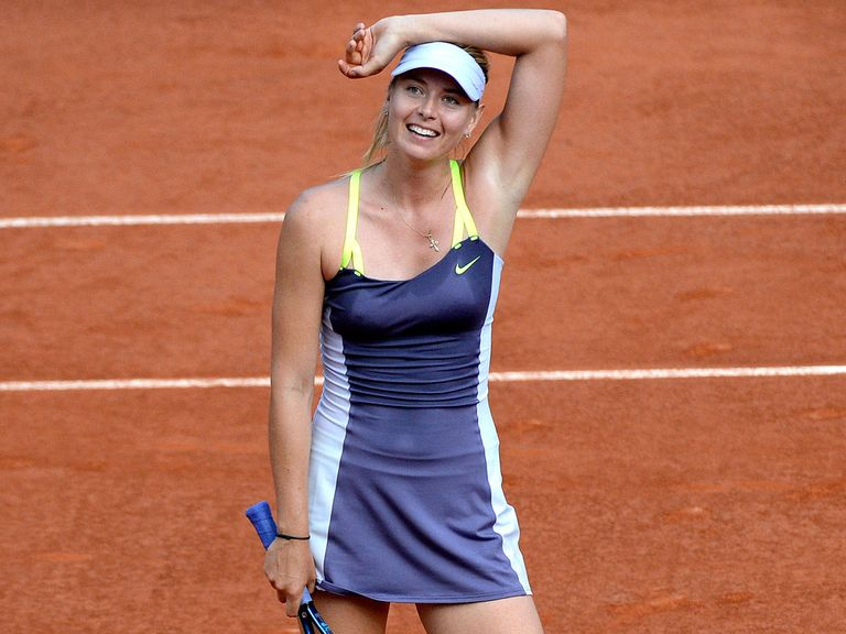 Maria Sharapova celebrates reaching the final.