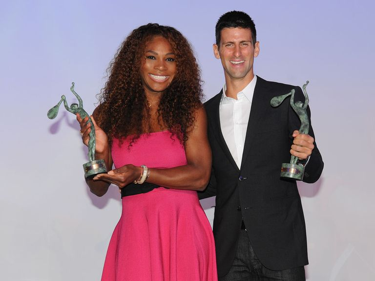 Serena Williams and Novak Djokovic at this year's World Champions Dinner