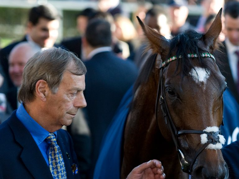 The late Sir Henry Cecil with Frankel