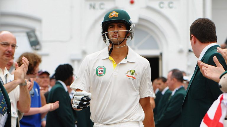 Ashton Agar came out to bat with his score on one...