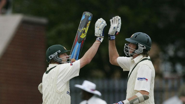 Brett Lee (L) and Glenn McGrath: Saw out the draw on the final day