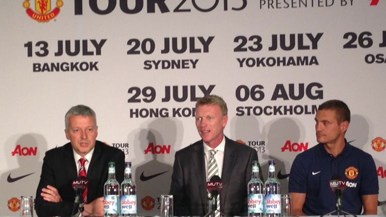 David Moyes faces the press at Old Trafford for the first time since his appointment