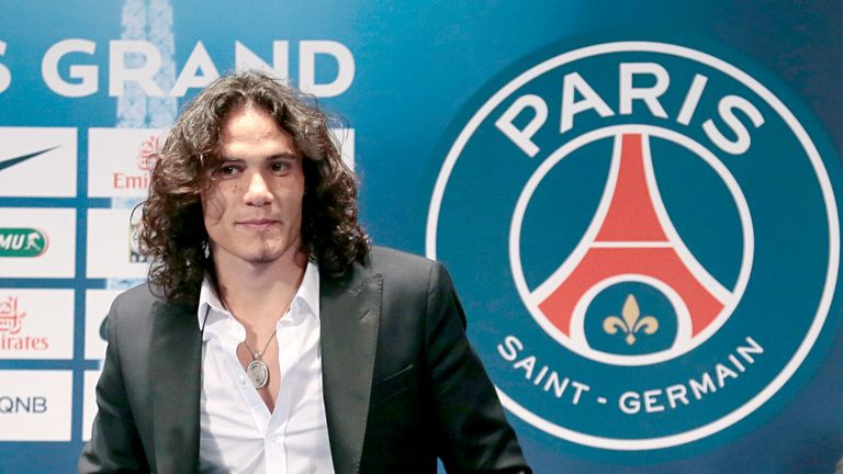 Edinson Cavani: Uruguay striker has joined Paris Saint-Germain from Napoli