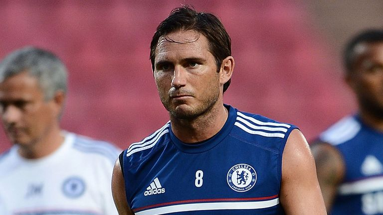 Frank Lampard: The midfielder had been struggling with an Achilles injury earlier in pre-season