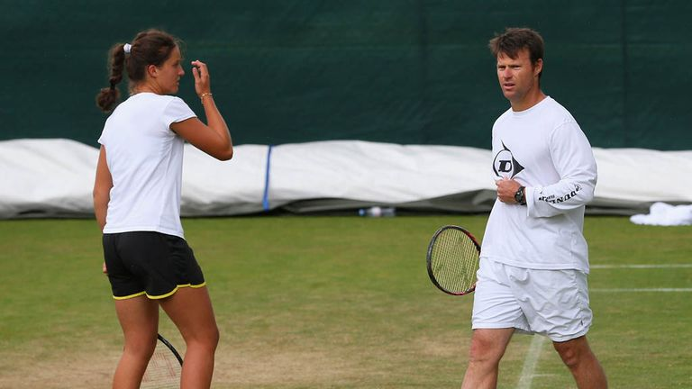 Laura Robson (left) with Miles Maclagan