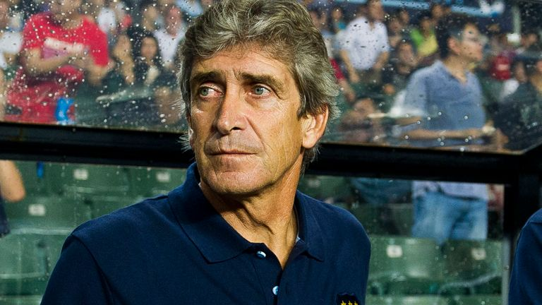 Manuel Pellegrini: The Manchester City boss is set to build an attacking style at the Etihad Stadium