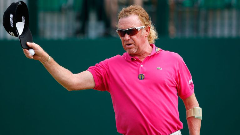 Miguel Angel Jimenez: Five under at the turn