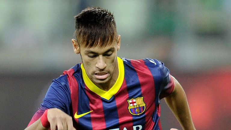 Neymar: In fine form for Barcelona in their 2-1 win over Villarreal