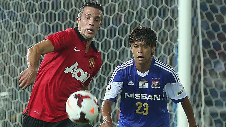 Robin van Persie: Forced off at half-time during defeat to Yokohama