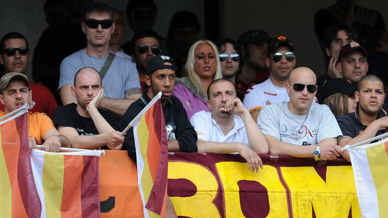 Roma fans: Club hit by suspended stadium ban