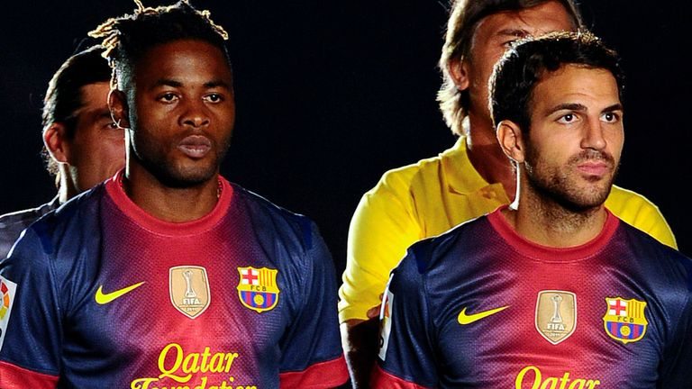 Alex Song: With Cesc Fabregas at Barcelona last season