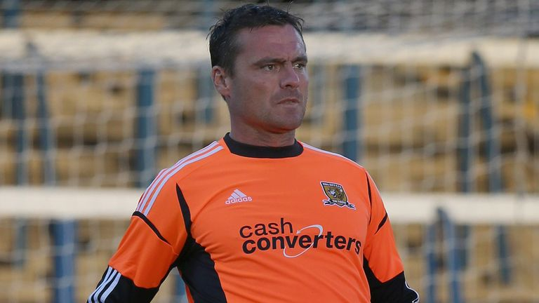 Steve Harper: Hull keeper was back at Newcastle on Tuesday