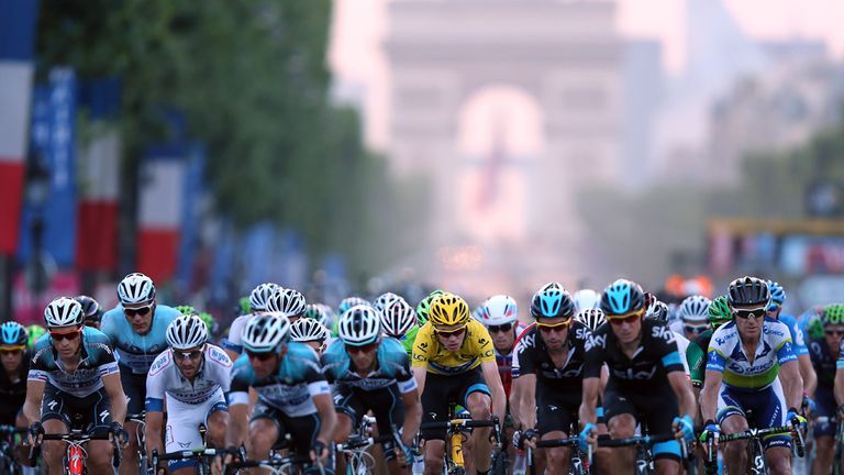 Team Sky made their mark in Paris