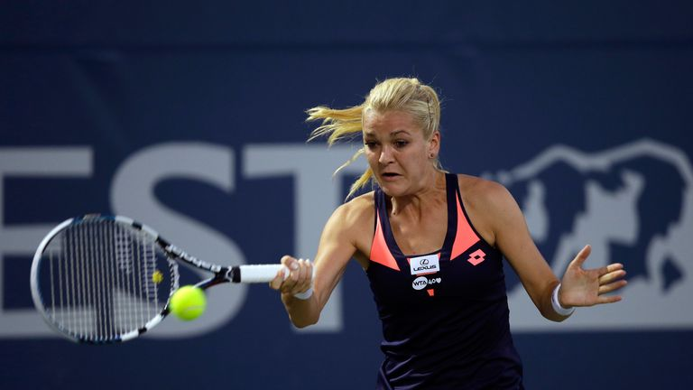 Agnieszka Radwanska: Overcame some serve trouble to defeat Varvara Lepchenko in three sets
