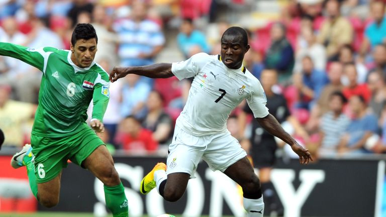 Frank Acheampong (R): Flattered by talk of interest from AC Milan