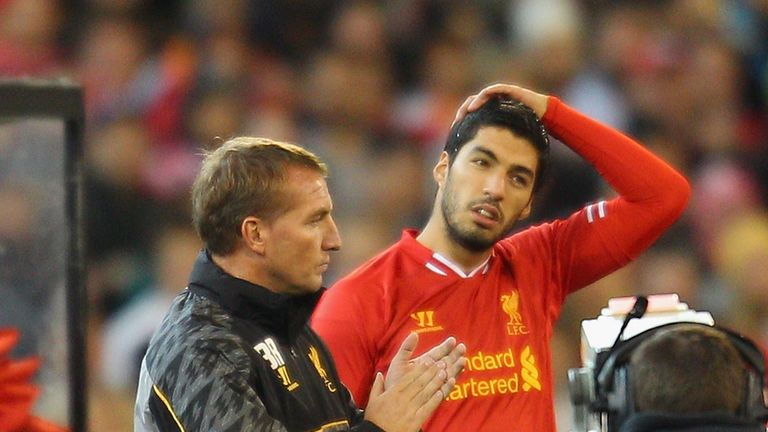 Rodgers worked with Suarez during his time in charge of Liverpool