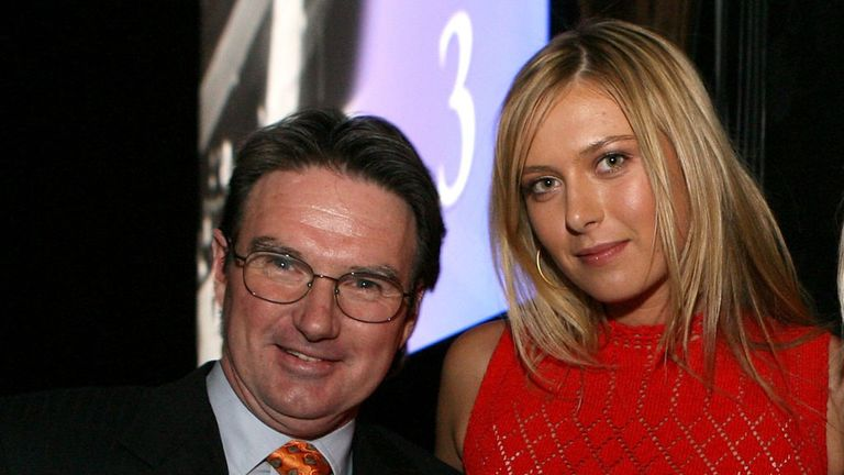 Maria Sharapova alongside her new coach Jimmy Connors back in 2006