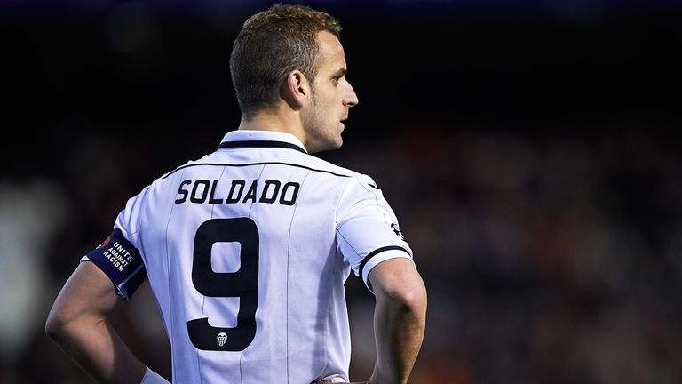 Roberto Soldado: Valencia striker is a transfer target for Tottenham
