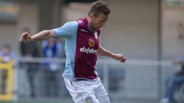 Andreas Weimann: Aston Villa forward finds the net in Germany