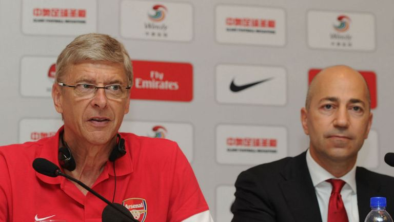 Ivan Gazidis (r): Excited by new kit deal with Puma