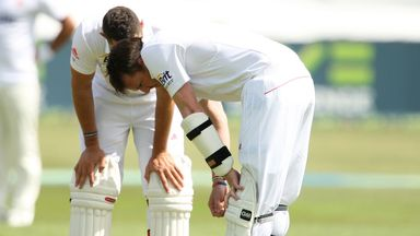 Graeme Swann needed an X-ray after a blow on the arm