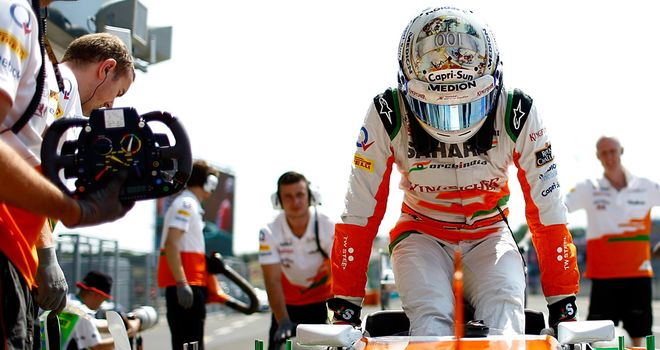 Adrian Sutil: Happy with P11