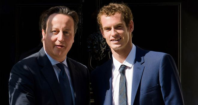David Cameron: Welcomes Wimbledon winner Andy Murray to Downing Street