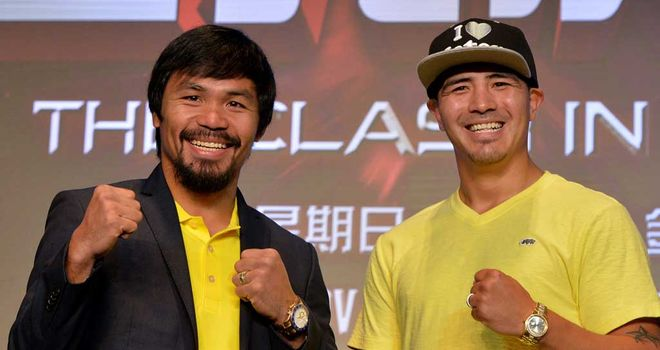 Manny Pacquiao (right) will fight Brandon Rios (left) in Macao later this year