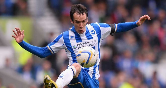 David Lopez: Rounded off the scoring for Brighton
