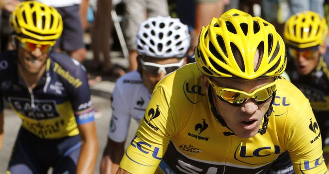 Chris Froome retained his lead of the Tour de France