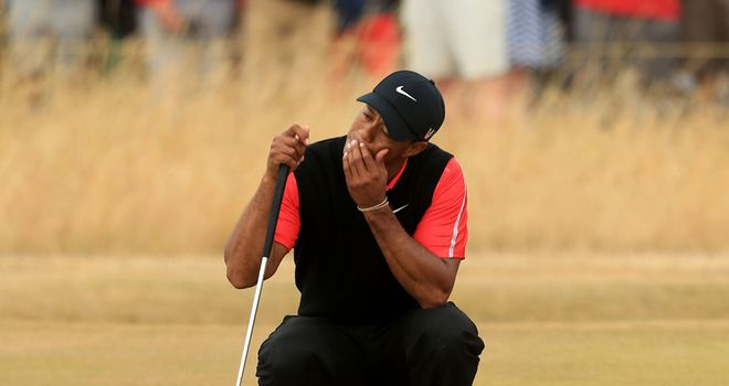 Tiger Woods: could only manage a three-over-par 74