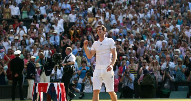 Andy Murray: stood tall in the Centre Court sunshine