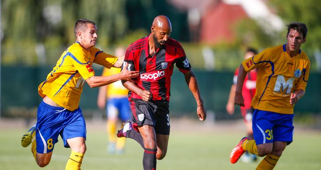 Nicolas Anelka: Starred in West Brom's friendly win in Hungary
