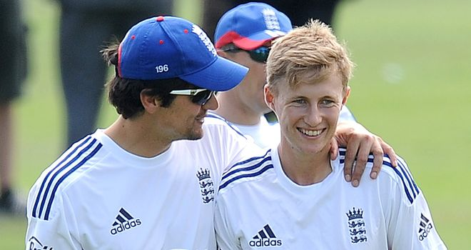 Alastair Cook and Joe Root will open the batting for England in the first Test