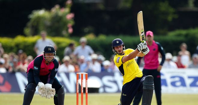 James Vince: Smashed 84 from just 49 balls for Hampshire