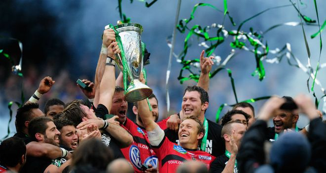 Jonny Wilkinson and Toulon celebrate last season's Heineken Cup victory