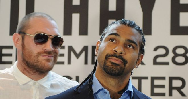 Tyson Fury and David Haye: Live on Sky Box Office on September 28