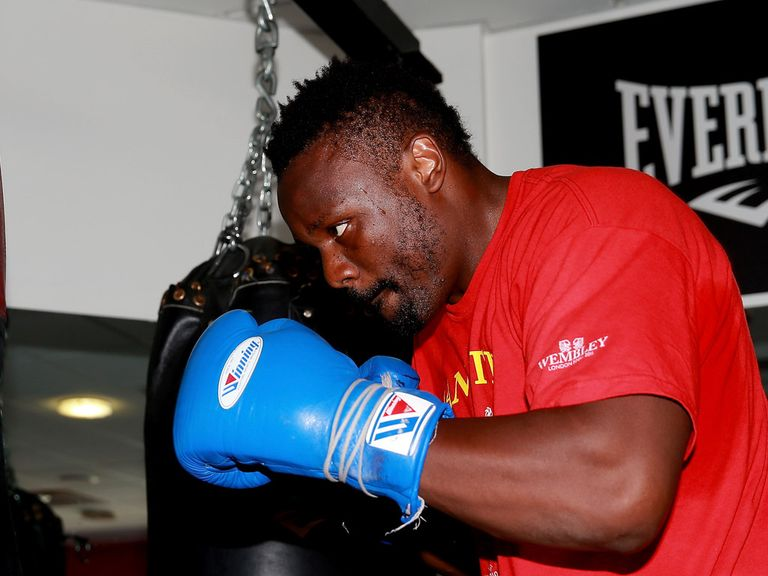 Dereck Chisora: Favourite to win the European strap