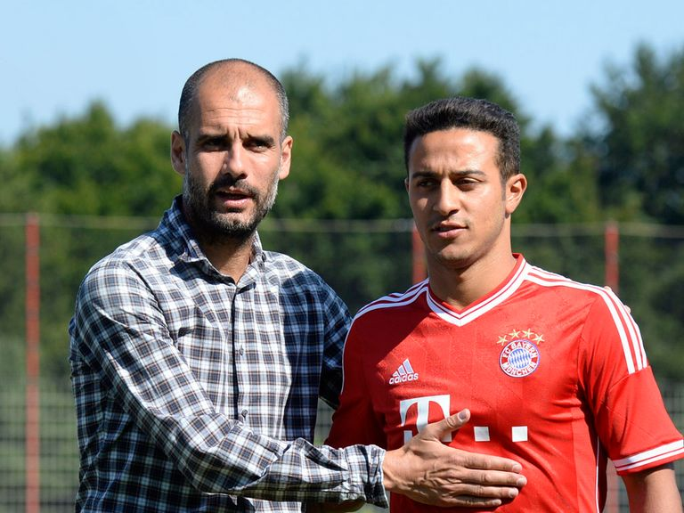 Thiago Alcantara: Unveiled at Bayern Munich