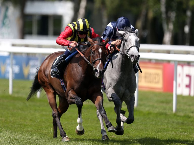 Elusive Kate and Sky Lantern fight out the controversial finish to the Falmouth Stakes