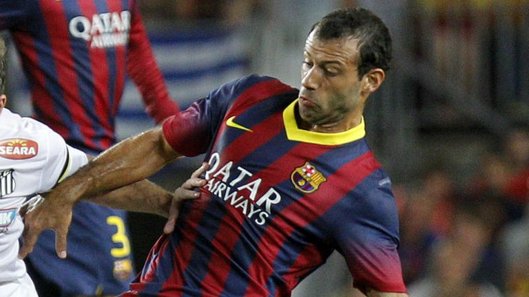 Javier Mascherano: One of numerous Barcelona injuries