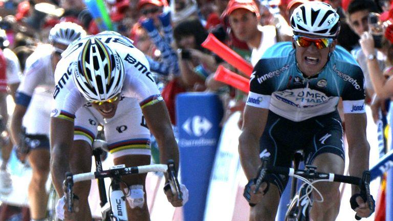 Zdenek Stybar beat Philippe Gilbert in a photo finish