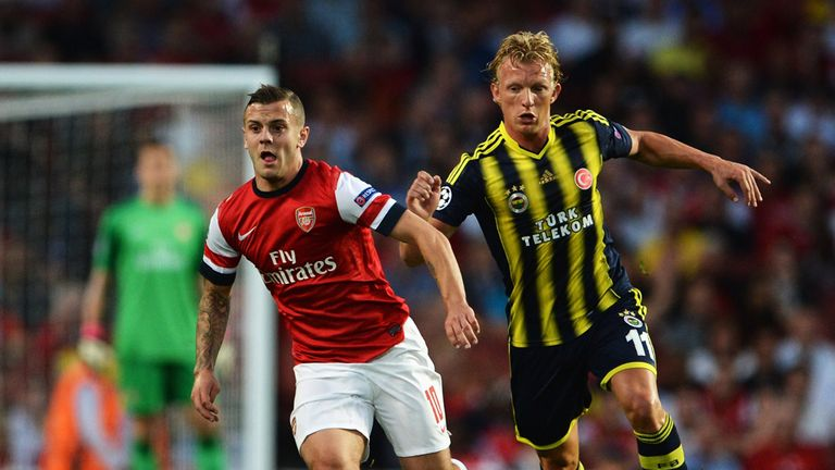 Jack Wilshire in action against Fenerbahce on Tuesday