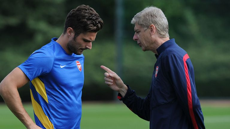 Arsene Wenger: Wants to see an improvement from striker Olivier Giroud
