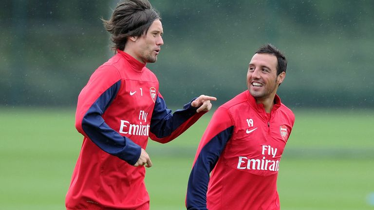 Tomas Rosicky and Santi Cazorla: Before injury problems hit