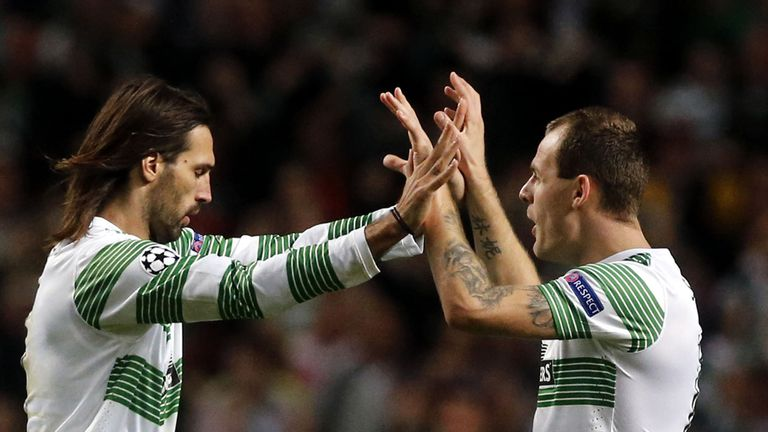 Georgios Samaras and Anthony Stokes: Celtic duo due to be out of contract