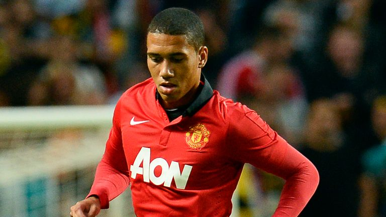 Chris Smalling: Hoping to stay in the Manchester United side for Sunday's derby
