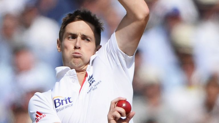 Chris Woakes: making his Test debut against the Aussies in the last Test