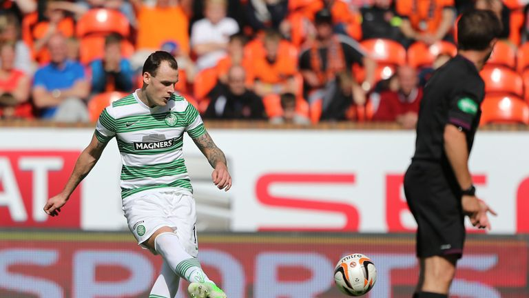 Anthony Stokes: Scoring his 50th goal for Celtic at Tannadice last month